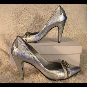 Versace women's silver pumps